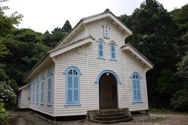 奈留島の江上集落江上天主堂とその周辺の画像1